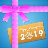 à ¹ ‡新年快乐礼物盒卡片 免版税库存照片