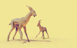 À¸ºà¸ºDeer d'origami bas poly illustration stock