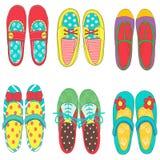 ฺBaby dziewczyna buty royalty ilustracja