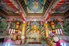 ฺBhutanese tempel in Bodhgaya Royalty-vrije Stock Foto