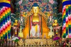 ฺBhutanese tempel in Bodhgaya Royalty-vrije Stock Foto's