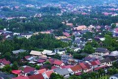 ฺBird oka widok w Luang Prabang Obraz Stock