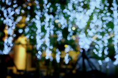 ฺBokeh光在夜 免版税库存图片