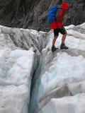 À côté de la crevasse Image stock