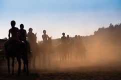 À cheval leçon Images libres de droits