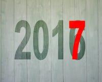 2016 à 2017, concept de bonne année Images libres de droits