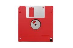 À disque souple à disque souple et rouge sur un fond blanc Images libres de droits