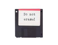 À disque souple, appui de stockage de données Images libres de droits