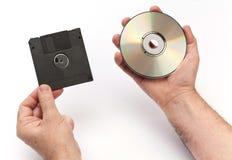 À disque souple et CD Photographie stock libre de droits