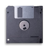 À disque souple noir d'isolement sur le blanc Image libre de droits