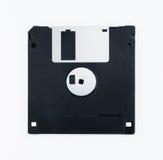 À disque souple noir d'isolement sur le fond blanc Image libre de droits