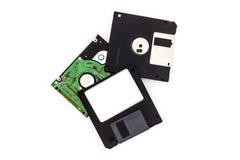 À disque souple sur le fond blanc Photo stock