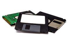 À disque souple sur le fond blanc Image libre de droits