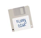 À disque souple - Tachnology du passé, d'isolement sur le blanc Photo stock