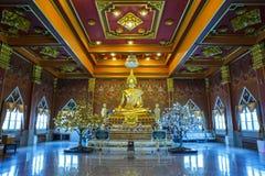 ฺGold άγαλμα του Βούδα Στοκ Φωτογραφία