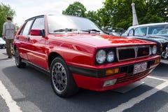 À haute fréquence exécutif compact Integrale de delta de Lancia de voiture Photos stock