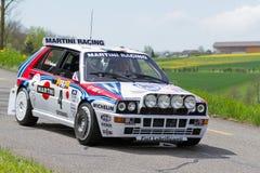 À haute fréquence Integrale de delta de Lancia de véhicule de 1988 Images libres de droits