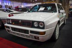 À haute fréquence Integrale 16v Evoluzione II, 1993 de delta de Lancia de voiture de sport Photos stock