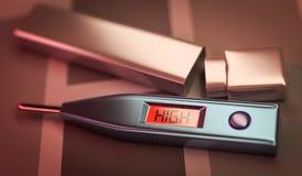 À hautes températures Photos stock