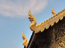 à ¹ ŒKing van nagas op wat die tempel faseren bij chiangmai Thailand Royalty-vrije Stock Afbeeldingen
