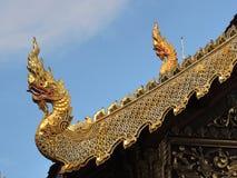à ¹ ŒKing van nagas op wat die tempel faseren bij chiangmai Thailand Royalty-vrije Stock Afbeelding