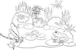 À l'étang illustration de vecteur