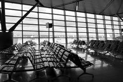À l'aéroport Image libre de droits