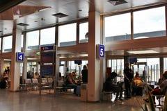 À l'aéroport W de Salzbourg un Mozart Images libres de droits
