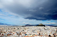 À l'Acropole à Athènes Photographie stock