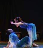 À l'air l'amant espiègle pour la danse d'avenir-campus Image libre de droits