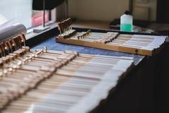 À l'atelier de piano Images libres de droits