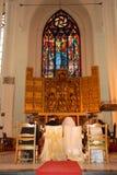 À l'autel Image libre de droits