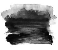 À l'encre noire sur le fond blanc Abstraction Photographie stock libre de droits