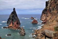 À l'est de l'île de la Madère, Ponta de Sao Lourenco Images libres de droits