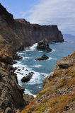 À l'est de l'île de la Madère, Ponta de Sao Lourenco Photos libres de droits