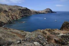 À l'est de l'île de la Madère, Ponta de Sao Lourenco Image libre de droits