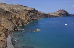 À l'est de l'île de la Madère, Ponta de Sao Lourenco Image stock