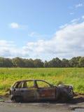 À l'extérieur brûlé véhicule Images libres de droits