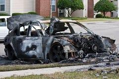 À l'extérieur brûlé véhicule Photos libres de droits