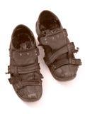 À l'extérieur portées chaussures Image libre de droits
