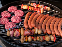 À l'extérieur réception de gril de BBQ de barbecue Photographie stock libre de droits