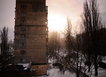 À l'hiver Photos libres de droits