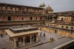 À l'intérieur d'Amer Fort, Amer, Jaipur, Ràjasthàn, Inde Photos stock