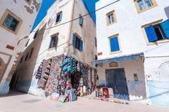 À l'intérieur d'Essaouira, la ville marocaine de bord de la mer Photographie stock libre de droits