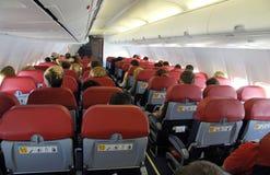À l'intérieur d'un avion Photographie stock libre de droits