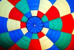 À l'intérieur d'un ballon à air chaud Images libres de droits