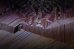 À l'intérieur d'un circuit d'ordinateur photographie stock libre de droits
