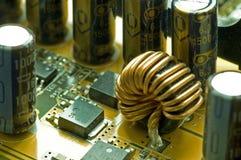 À l'intérieur d'un circuit d'ordinateur image stock