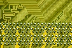 À l'intérieur d'un circuit d'ordinateur images stock