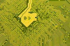 À l'intérieur d'un circuit d'ordinateur photo libre de droits